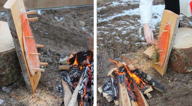 финский рецепт копченый лосось на доске