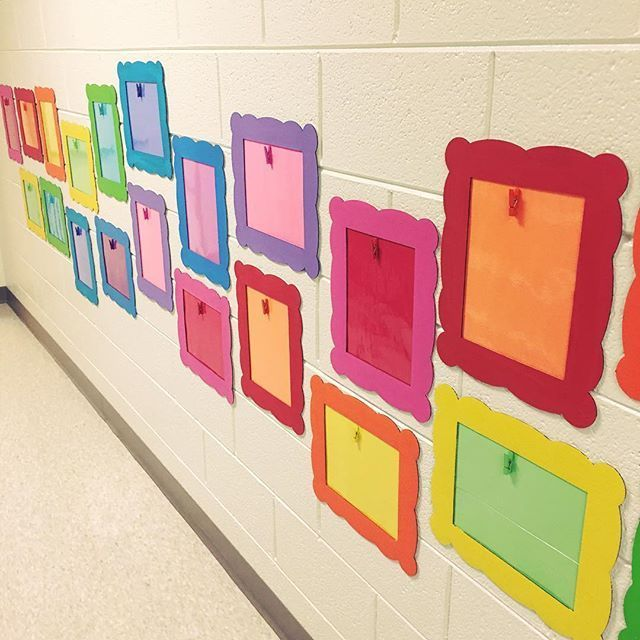 The frames are finished and hung! I can't wait to display their work!!! #kinderkids #teachersofig #kindergartenclassroom #kindergarten #iteachk #kinderchat