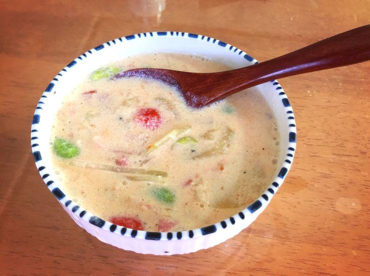 簡単あったまる*お一人様の豆乳スープ* by もふもふちゃん [クックパッド] 簡単おいしいみんなのレシピが221万品