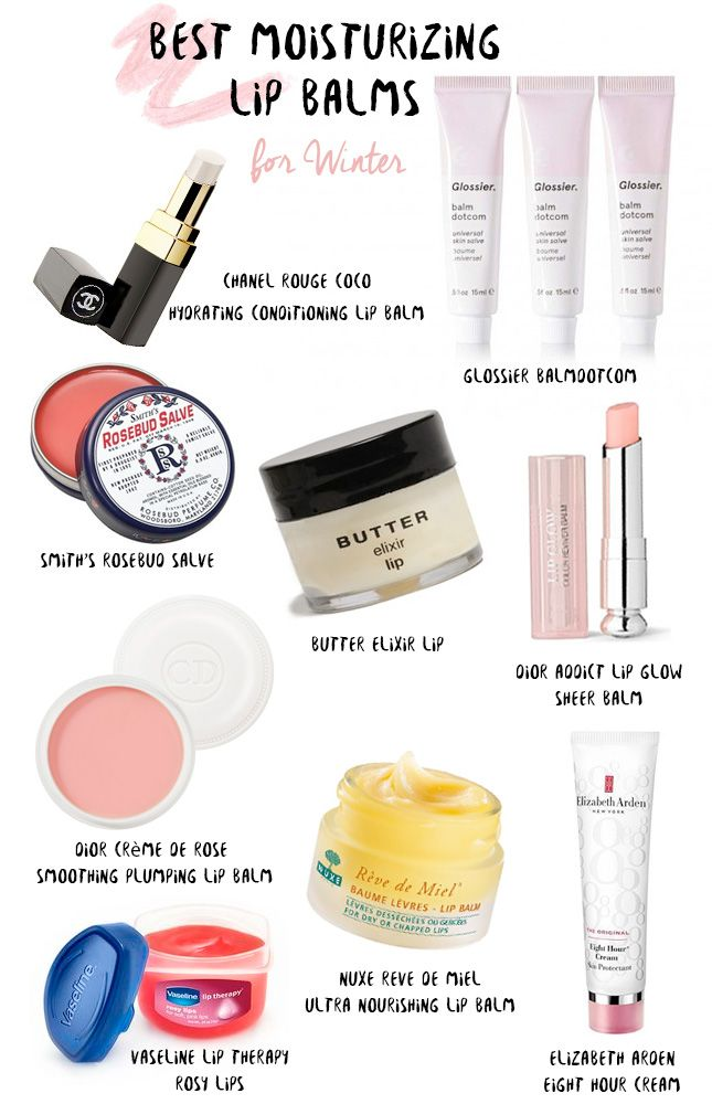 Best moisturizing lip balms for Winter