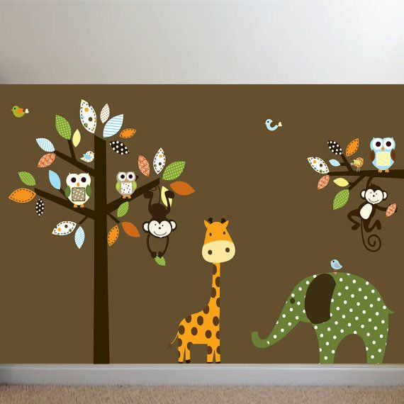 wall decal (wall color will be soft yellow though)