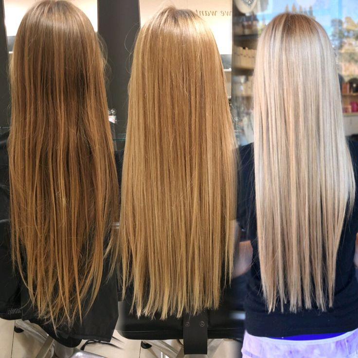 Process of going platinum blonde in sessions                                                                                                                                                                                 More