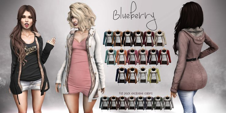 https://flic.kr/p/PUPQBD | Blueberry Minnie Winter Coats | Hi ladies.  These coats come with built in shirt (optional) and also optional furs.  The shirts can be color changed between 24 colors with gold or silver print, or no print at all.  The coats should fit over most of your Blueberry clothing.  They can be found in the mainstore.  Mainstore LM: maps.secondlife.com/secondlife/Lenox%20and%20Blueberry/18... If the sim is full try the alternate location…