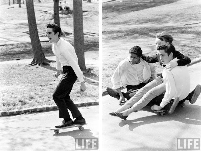 Skating in the 60s.