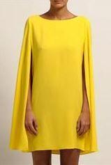 robe jaune cape maje