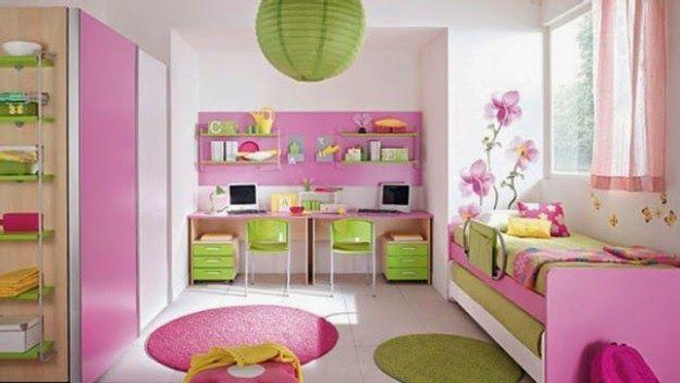 Dormitorios para niñas decorados con rosa