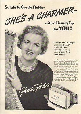 0 Gracie Fields 1942 lux soap ad