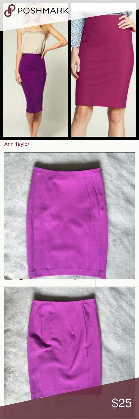 🔴SALE TODAY🔴  Ann Taylor Purple Pencil Skirt Ann Taylor Purple Pencil Skirt  NWOT  New with out tag   Size : 6   Color : purple   Super sexy and cute on Ann Taylor Skirts Midi