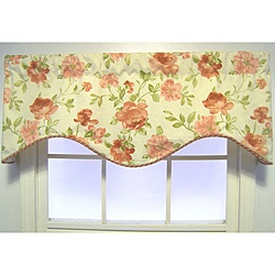 @Overstock - This transitional valance features a floral pattern showcasing beautiful vintage roses against a cream background. This valance is finished with a twisted cord at the bottom edge.  http://www.overstock.com/Home-Garden/Deauville-Floral-Cornice-Valance/6115484/product.html?CID=214117 $49.09