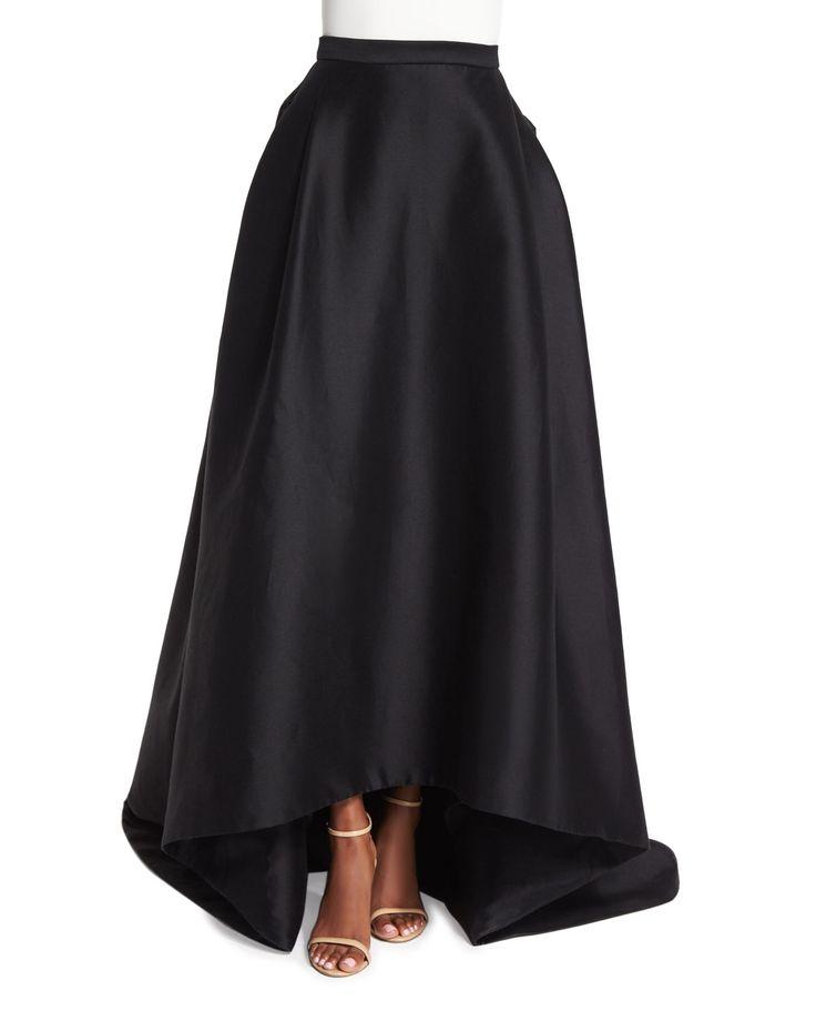 High-Low Ball Skirt, Black - Carolina Herrera