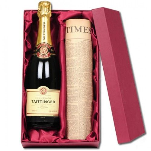 Personalised Taittinger Champagne and Original Newspaper  from Personalised Gifts Shop - ONLY £89.99