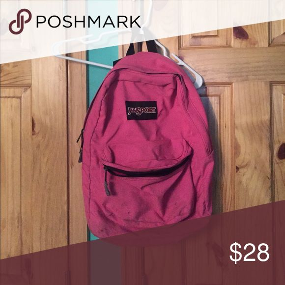 Retro pink Jansport backpack Has some signs of wear, but still a very cute retro hot pink backpack Jansport Bags Backpacks