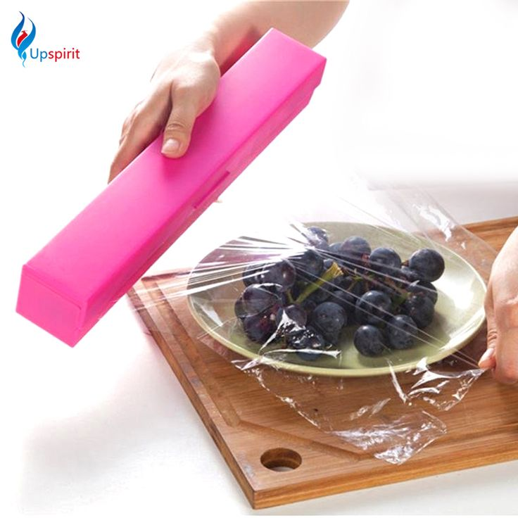Hot Sale Stainless Steel Blade Preservative Plastic Wrap Dispenser Cling Film Cutter Holder Cutting Box Home Kitchen Dining Bar