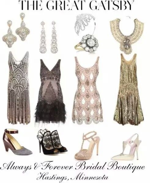 20's Dresses - 20s themed bridesmaid dress ideas
