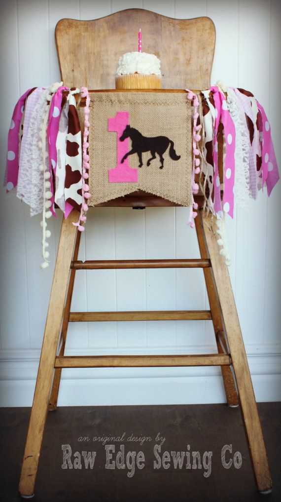 RODEO COWGIRL Painted Pony Birthday Age High by RawEdgeSewingCo