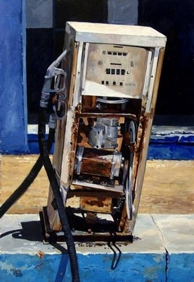 The Old Petrol Pump - | Mynderd Vosloo | Painters Online