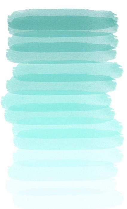 Ombre mint.