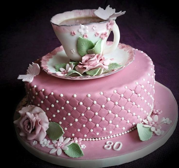 Teacup and rose - vintage cake by Tracey
