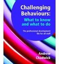 Challenging Behaviours - What to Know and What to Do  Fantastic book borrowed from ihc library. Thought I'd like to buy it for school staff room, but yowsers it's expensive.