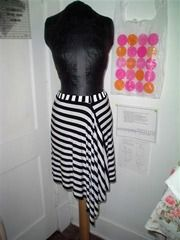 "actually, I already did make this. in the same stripey fabric. -""wearable origami"" skirt"