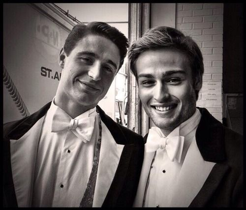 Max Irons and Douglas Booth on the set of The Riot Club. This picture is seriously too much for me.