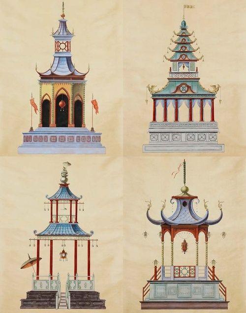 pretty Chinoiserie pagodas.