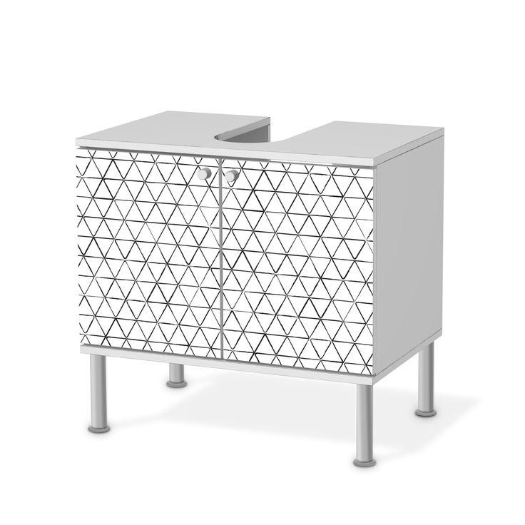 Möbelfolie Mediana Für IKEA Fullen Waschbeckenunterschrank 2 Türen