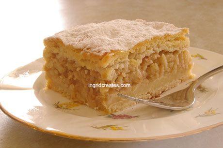 Hungarian Apple Slice Pie