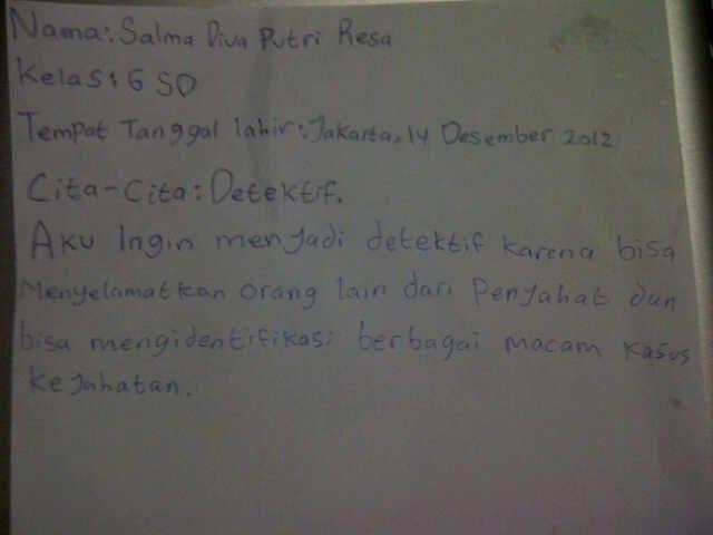 #FutureFactory: Hand Writing by Salma Diva Putri Resa