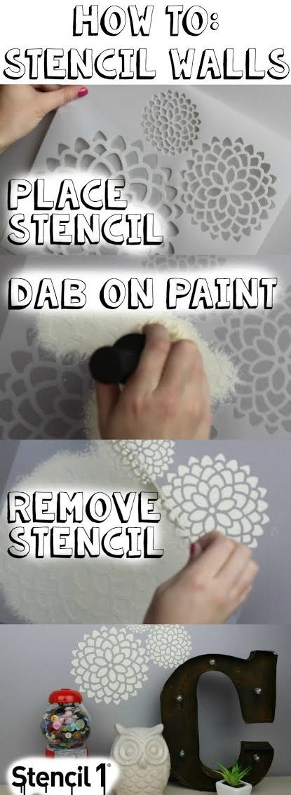 DIY Stenciled Walls - A Little Craft In Your DayA Little Craft In Your Day