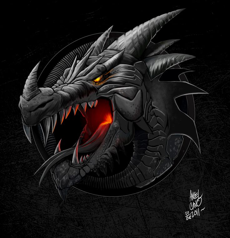 Logo dragon by angelcanohn on deviantart fortheloveofdragons 2 pinterest logos grey and love - Image de dragon ...