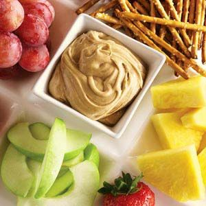Marshmallow Peanut Butter Dip - this was a huge hit with our company. Light, fluffy, slightly sweet, peanut butter was not overwhelming. Great with pretzels, graham crackers and fruit.
