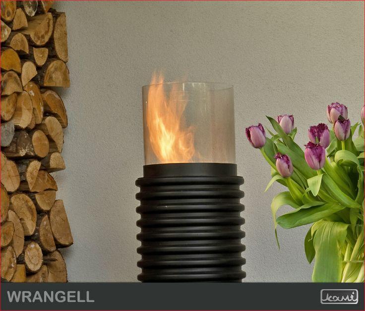Biokominek WRANGELL - wersja karbowana. Oryginalna lampa do salonu. #mieszkanie #kominki #salon #biokominek