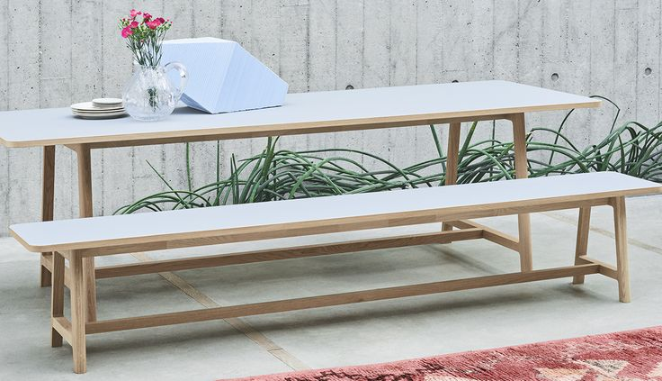 Frame table and bench.