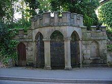 17th century Chalybeate spring well / former health spa, in Quarndon, Derbyshire, England