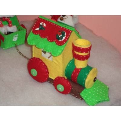 Locomotoras navideñas en fieltro - Buscar con Google