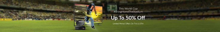 Snapdeal World Cup Led TV Sale Offer : This T20 Cricket World Cup Get 50% Off