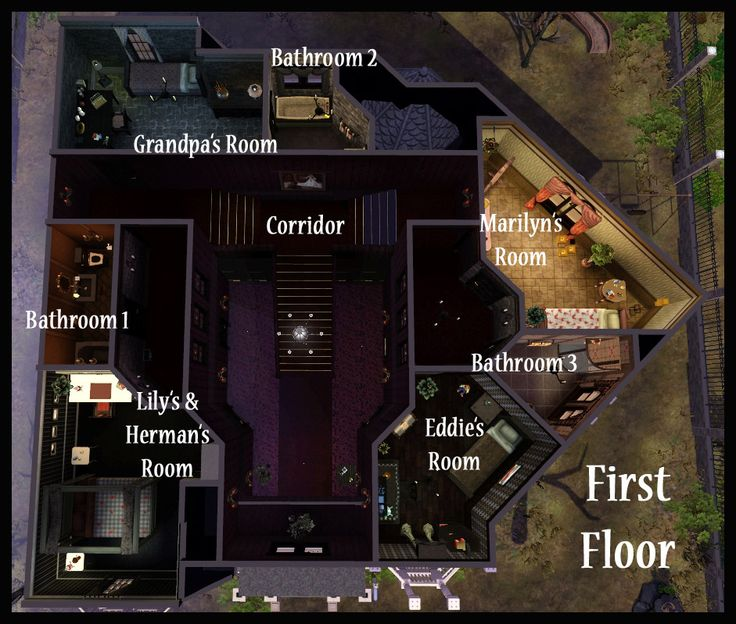 Home Design Ideas Floor Plans: House Layouts, Addams Family House