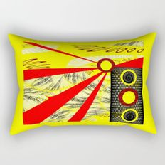 Yellowrange Rectangular Pillow