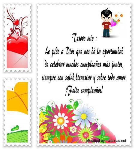 buscar originales saludos de cumpleaños,saludos de cumpleaños para enviar a mi novia : http://www.cabinas.net/mensajes_de_texto/mensajes_de_cumplea%C3%B1os.asp
