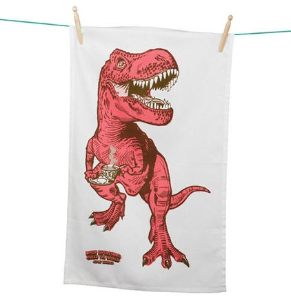eclectic dishtowels by Perpetual Kid - tea-rex! gotta love it! I need this!!!