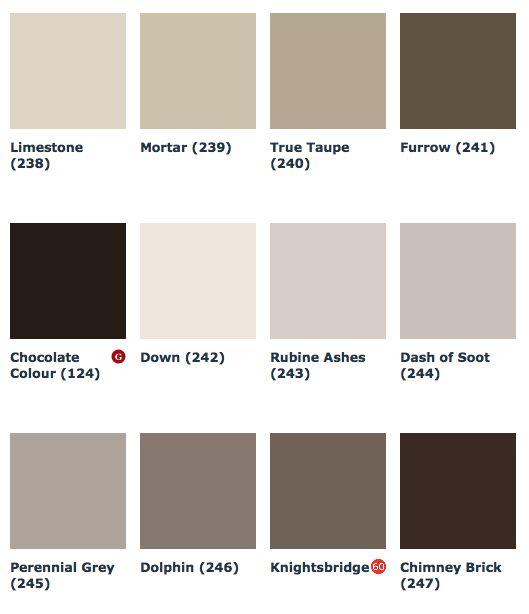 "Farbtonkarte Little Greene ""Grey"" 2.Teil"