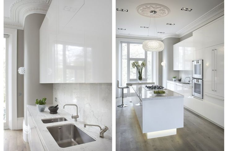 22. White Lacquered cabinetry built to the proportions of this Edwardian Villa in Blackheath, London.
