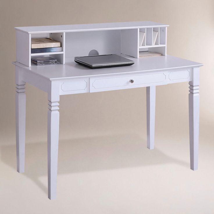 White Douglas Desk With Hutch World Market