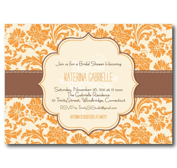 Fall In Love Bridal Shower Invitations. Fall Bridal Shower ...