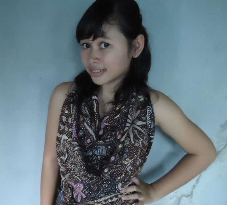 I use the dress of batik cloth