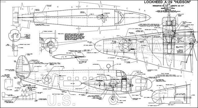 plans for lockheed a29 hudson