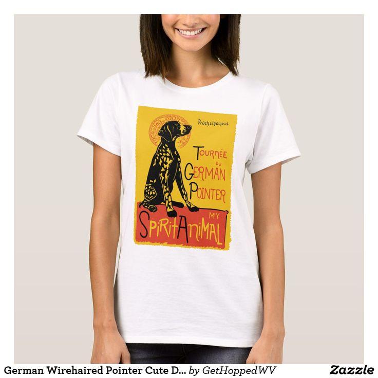German Wirehaired Pointer Cute Dog TShirt