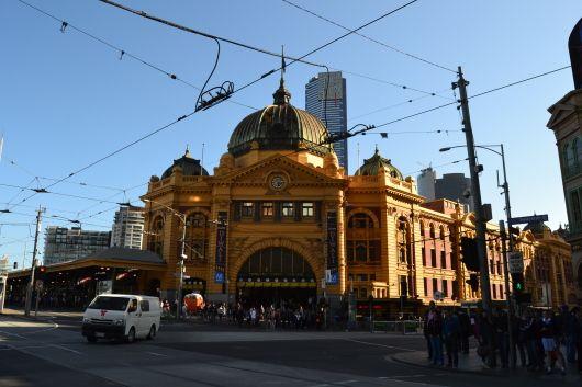 Flinder Station, Melbourne.
