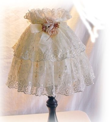 Double Flounce Lace Lamp shade cover